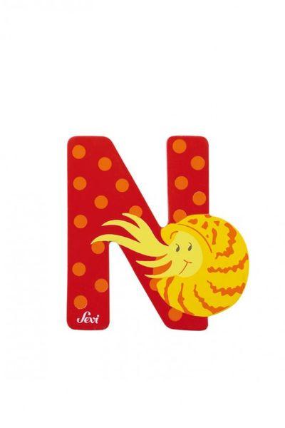 Buchstabe N Nautilus, versch. Farben
