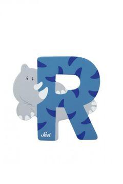 Buchstabe R Rhinozeros, versch. Farben 001