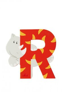Buchstabe R Rhinozeros, versch. Farben