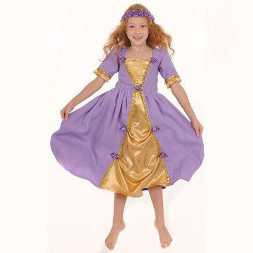 Kinderkostüm Prinzessin Kleid Violett  001