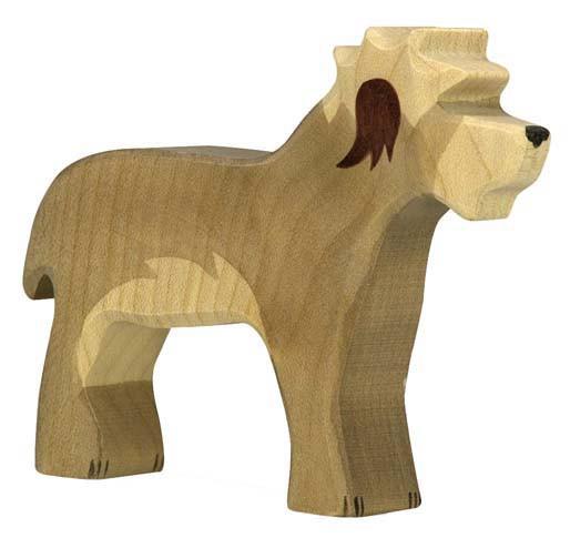 Holztiger Holzfigur Bobtail