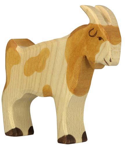 Holztiger Holzfigur Ziegenbock