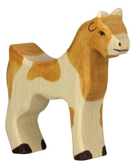 Holztiger Holzfigur Ziege