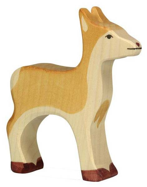 Holztiger Holzfigur Reh