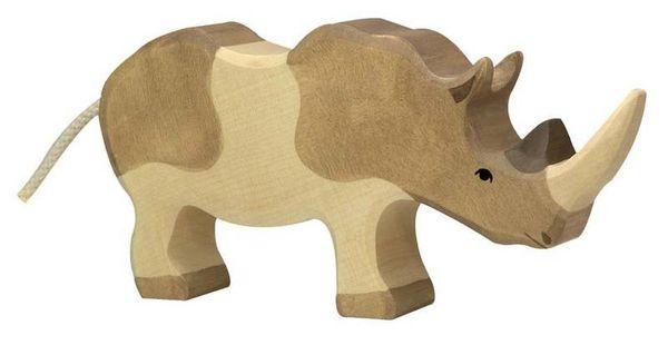 Holztiger Holzfigur Nashorn
