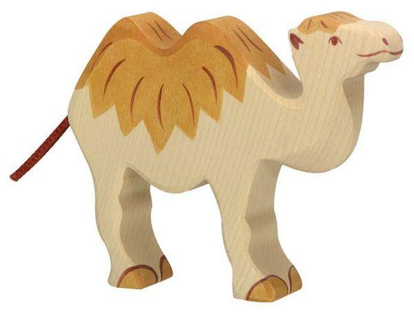 Holztiger Holzfigur Kamel