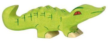 Holztiger Holzfigur Krokodil, klein