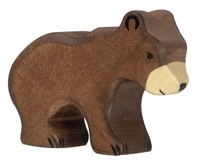 Holztiger Holzfigur Braunbär, klein