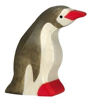 Holztiger Holzfigur Pinguin, klein