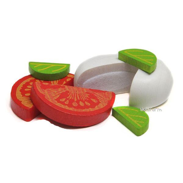 Kaufmannsladenzubehör Mozzarella & Tomate
