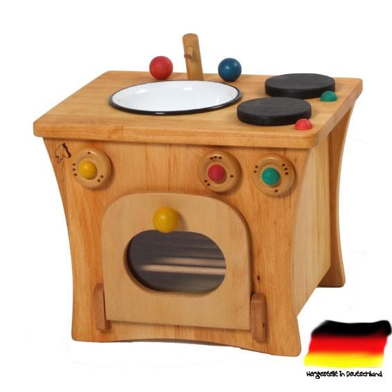 kinderküche puppenküche m. backofen aus erlenholz