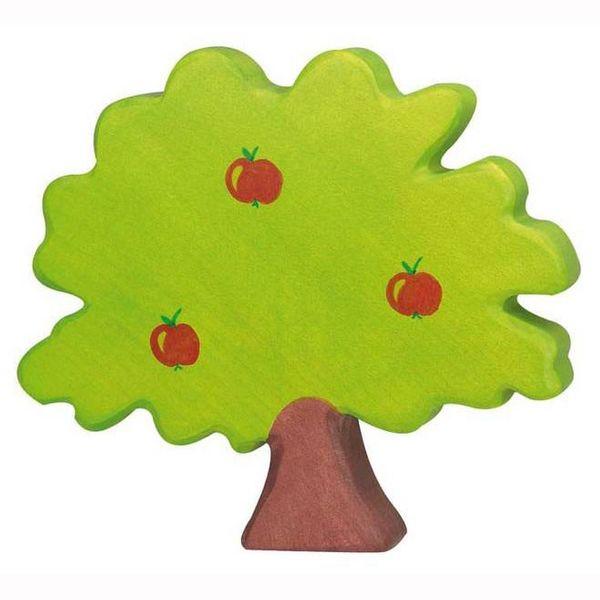 Holztiger Holzfigur Apfelbaum