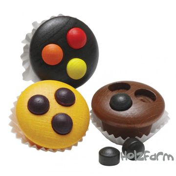 Kaufmannsladenzubehör Muffins (3 Stück)