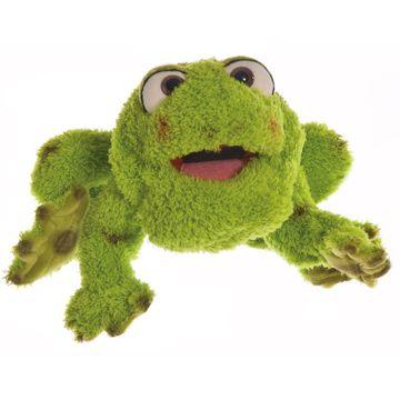 Handpuppe Rolf der Frosch