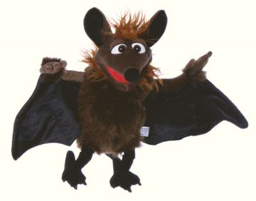 Handpuppe Gaston die Fledermaus