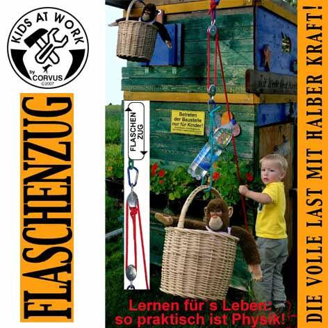 Corvus Kinderwerkzeug Flaschenzug mit Seil