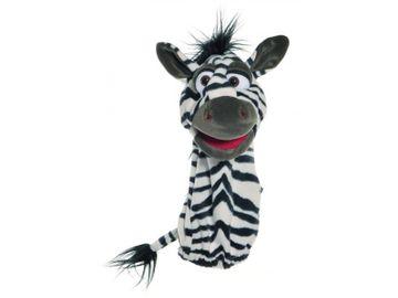 Handpuppe Quasselwurm Zebra