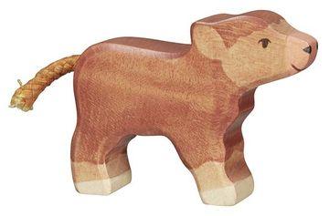 Holztiger Holzfigur Schottisches Hochlandkalb