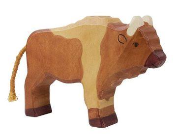 Holztiger Holzfigur Bison
