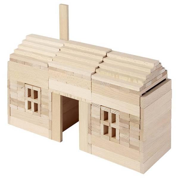 Natur-Holzbausteine