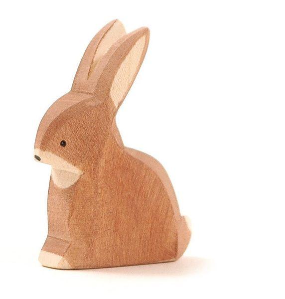 Ostheimer Holzfigur Hase sitzend