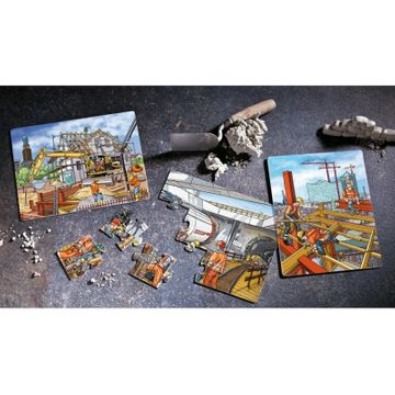 HABA Puzzle-Set Baustelle