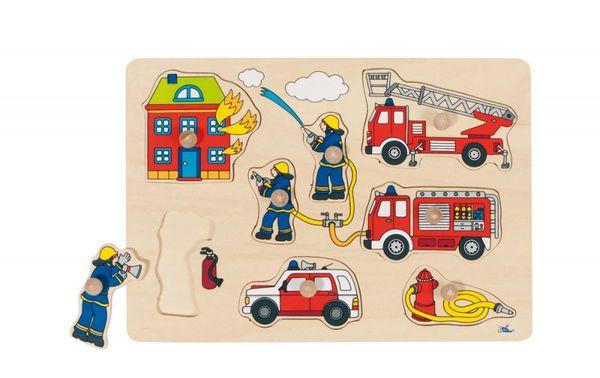 Goki Steckpuzzle - Feuerwehr