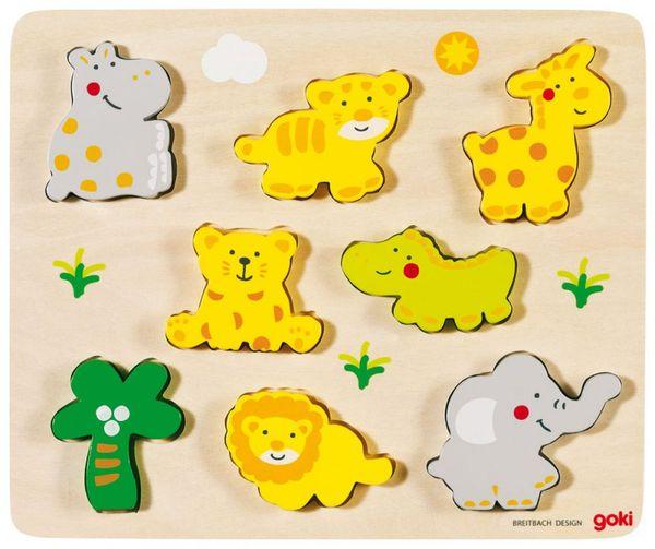 Goki Einlegepuzzle - Tierbabys
