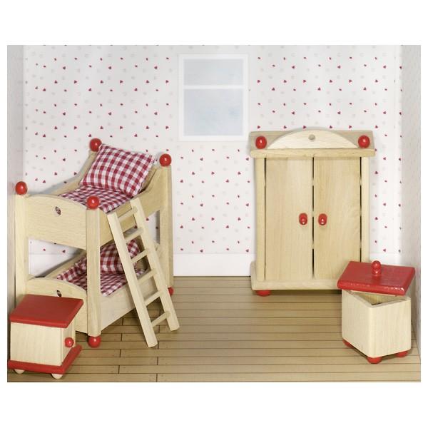 Puppenmöbel Kinderzimmer Bauernhausstil