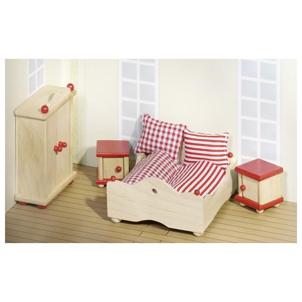 Puppenmöbel Schlafzimmer Bauernhausstil