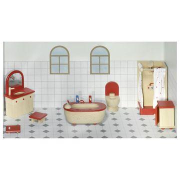 Puppenmöbel Badezimmer Bauernhausstil