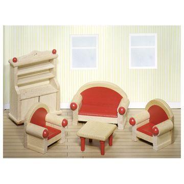 Puppenmöbel Wohnzimmer Bauernhausstil