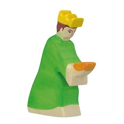 Holztiger Krippenfigur Balthasar 3