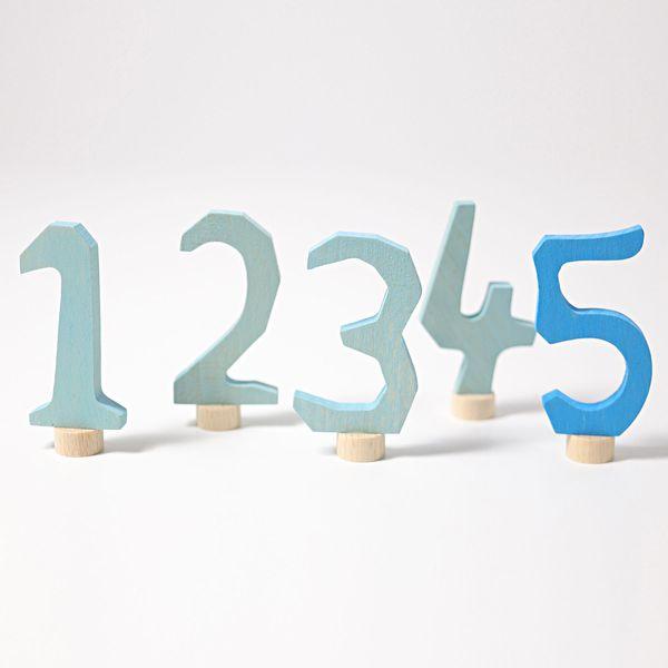 Grimms Zahlenstecker-Set 1-5, blau