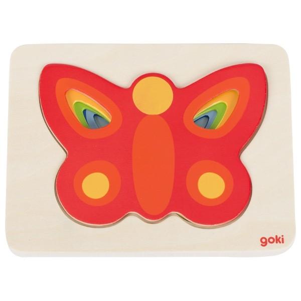 Goki Schichtenpuzzle - Schmetterling