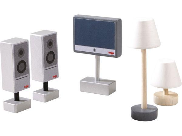 HABA Little Friends Spiel-Set Fernseher & Lampen