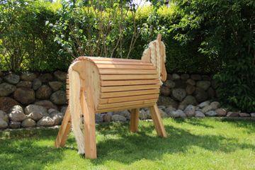 Holzfarm-Pferd Isi aus Fichtenholz
