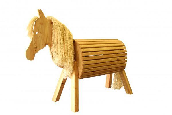 Holzfarm-Pferd Libelle aus Lärchenholz