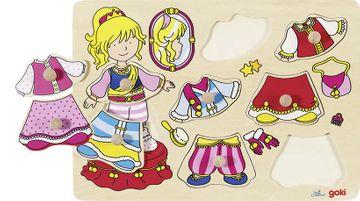 Goki Steckpuzzle - Prinzessin anziehen