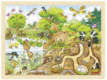 Goki Einlegepuzzle groß - Natur