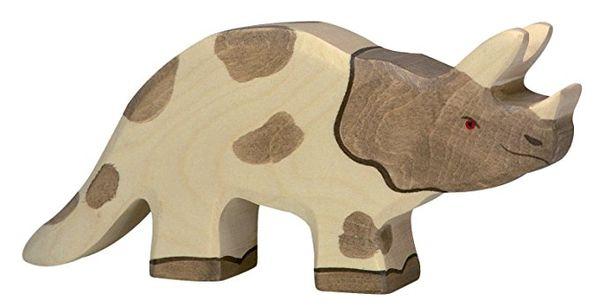 Holztiger Holzfigur Triceratops