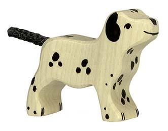 Holztiger Holzfigur Dalmatiner, klein