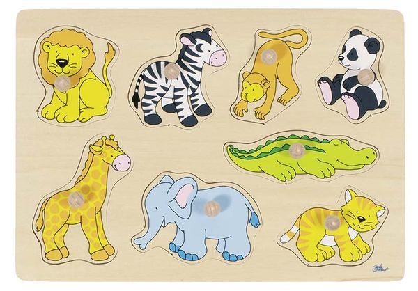 Goki Steckpuzzle PD1 - Zootiere 1