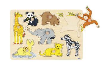 Goki Steckpuzzle PD1 - Zootiere 2