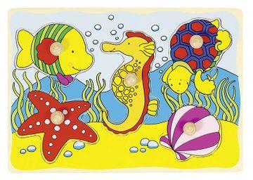 Goki Steckpuzzle mit Hintergrund PD3 - im Meer