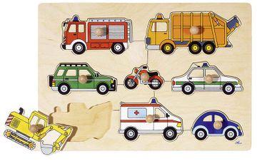 Goki Steckpuzzle - Fahrzeuge Verkehrsmittel