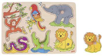 Goki Steckpuzzle mit Sound - Zoo