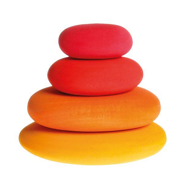 Grimms Bauset Feuersteine, Rot-Orangetöne