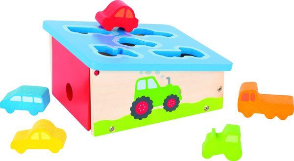Goki Sortier Box Fahrzeuge