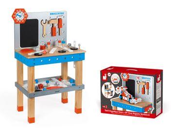 Janod Brico Kids Werkbank groß (inkl. 40 Teile Zubehör)